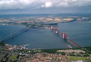 Forth Bridge Arial View