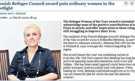 Tregim suksesi: femra shqiptare refugjate e vitit