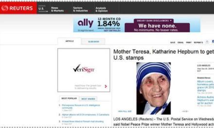 Mother Teresa to get U.S. stamp