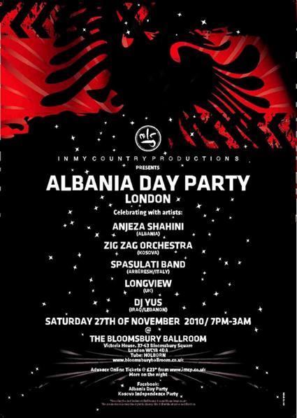 Albania Day Party – Londër 27-28 Nëntor 2010