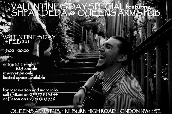 Shpat Deda këndon në Londër për Valentine's Day, 14 shkurt 2011