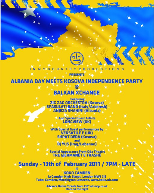 A Great Party in London, The Balkan XCHANGE, on 13 February 2011