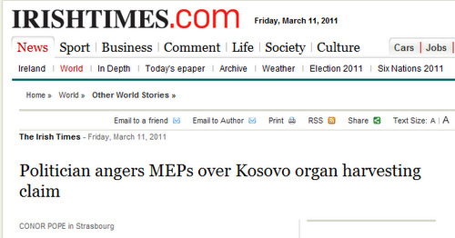 <!--:en-->Dick Marty angers MEPs over alleged Kosovo organ harvesting<!--:-->