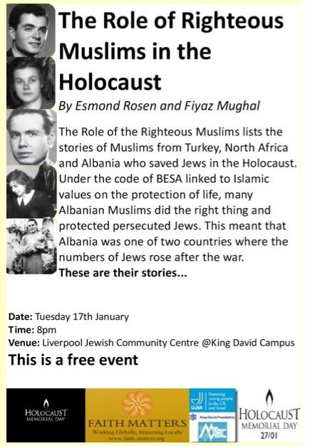 <!--:en-->The Role of Righteous Muslims in the Holocaust event in Liverpool, 17th January 2012<!--:-->
