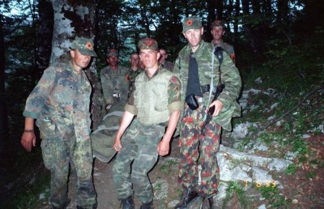 Craig Jurisevic in Kosovo War, 1999, (third from left)