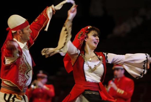 Albanian performers at Virginia International Tattoo