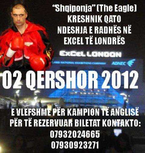 <!--:en-->Kreshnik Qato, WBF World Champ is boxing in London on 2nd June 2012<!--:--><!--:sq-->Kreshnik Qato, WBF Kampion Boteror, bokson në Londër me 2 qershor 2012<!--:-->