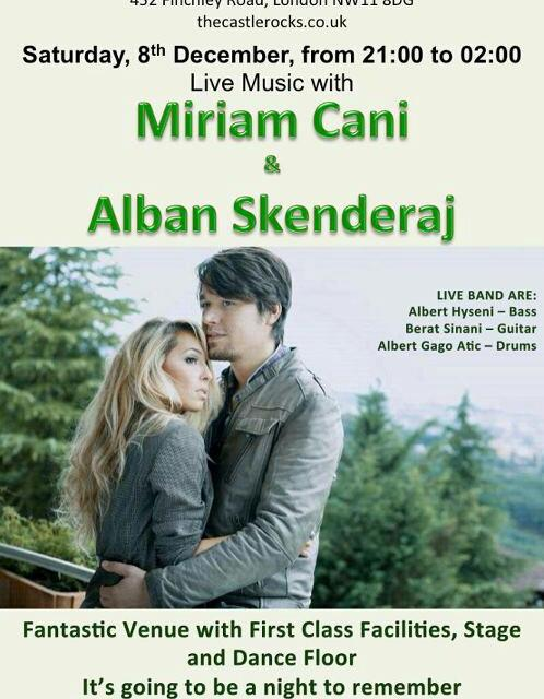 <!--:en-->Miriam Cani and Alban Skenderaj live concert in London on 8th December 2012<!--:-->