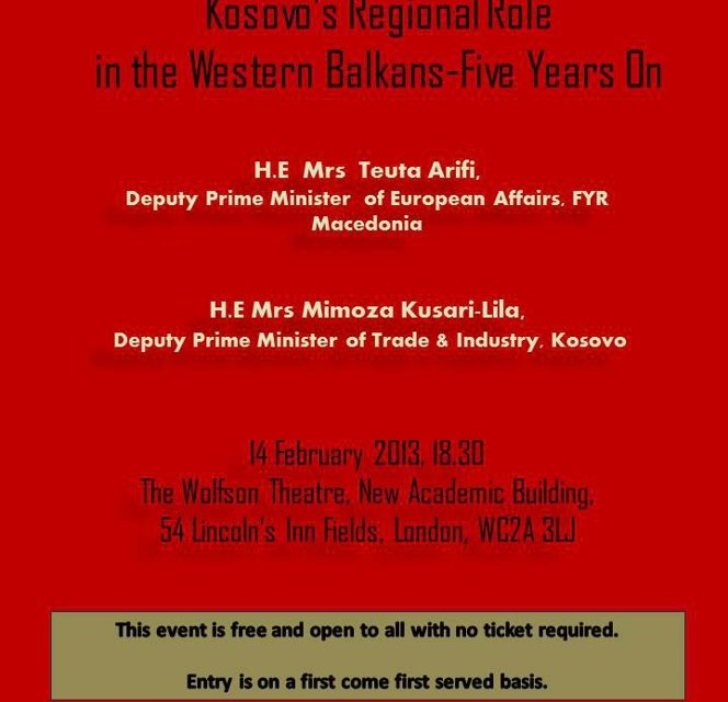<!--:en-->Kosovo's Regional Role in the Western Balkans – Five Years On, 14 February 2013<!--:-->