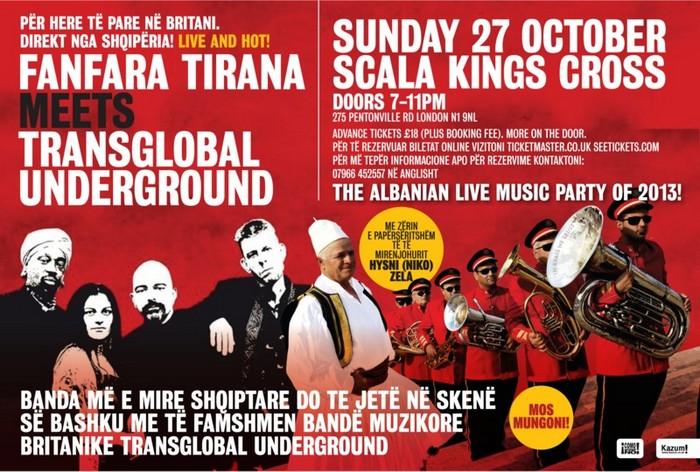<!--:en-->Albanian brass and folk music meets contemporary London, 27 October 2013<!--:--><!--:sq-->Trumpetat shqiptare dhe muzika folklorike takojnë Londrën bashkëkohore, 27 tetor 2013<!--:-->