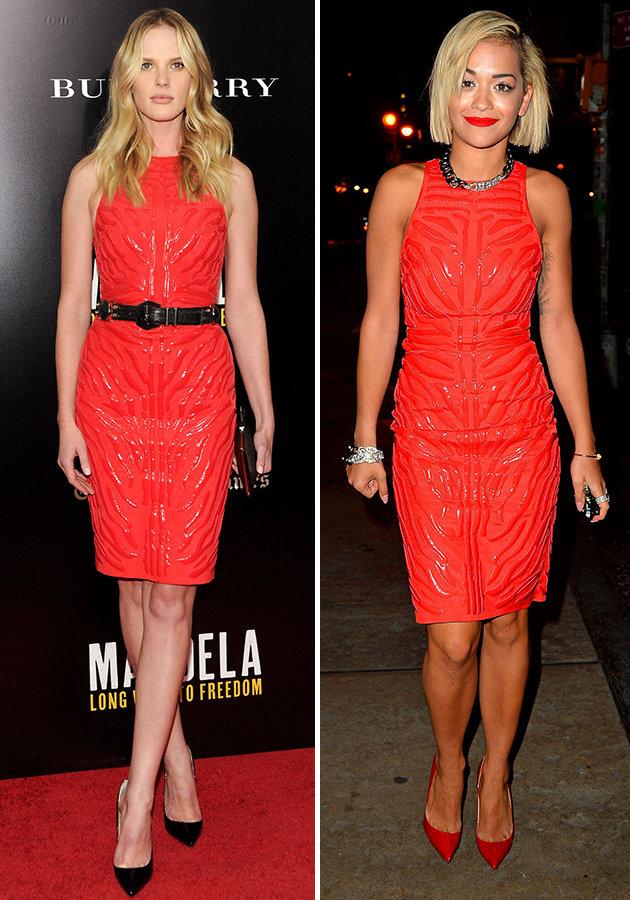Rita Ora vs Anne V: Cilës po i rrin fustani Versace AW13 më mirë?