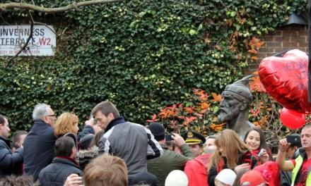 Përkujtohet vdekja e Skenderbeut tek busti i tij në Londër, me 17 janar 2014