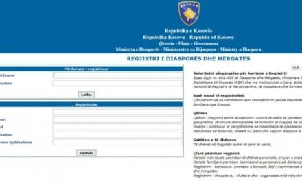 Filloi procesi i regjistrimit onlajn të mërgimtarëve të Kosovës