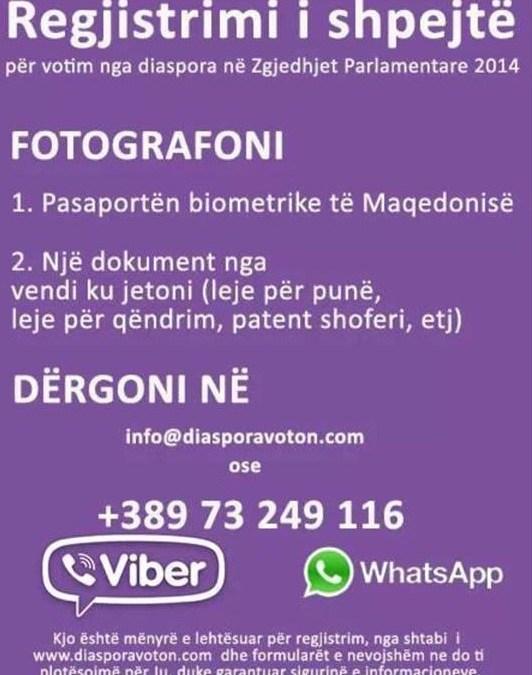 Apel diasporës shqiptare nga Maqedonia që të regjistrohen onlajn