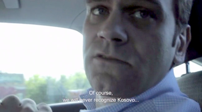 A screen capture from the documentary The Agreement