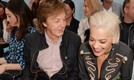Rita Ora has made a new pal, this time the living legend, Sir Paul McCartney