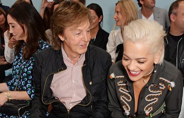 Rita Ora and great Macca.