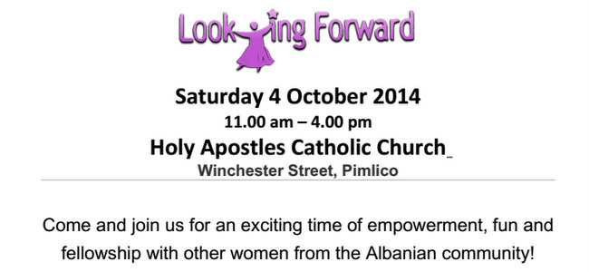 Looking Forward, an Albanian Women's Day event in London, 4th October 2014