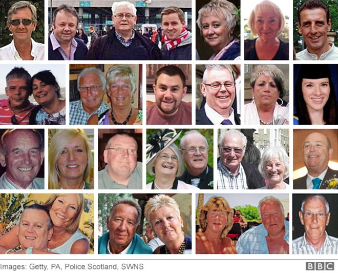 Photos of British tourists killed in the Tunisia beach attack a week ago.