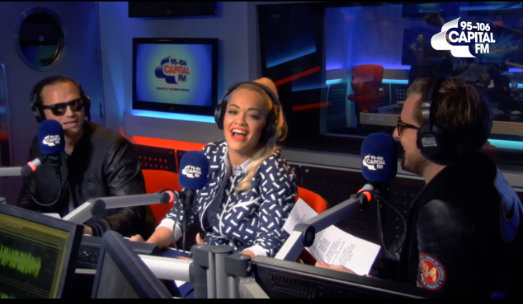 Rita Ora slays 'Hello' better than Adele by singing it live, in a made-up language, on Capital FM (Video)