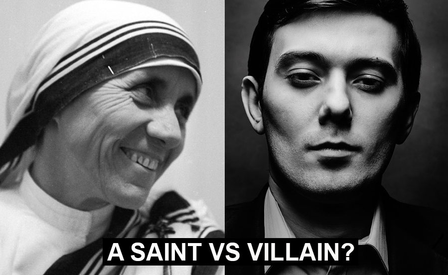 A poll: Mother Teresa vs Martin Shkreli, an Albanian saint vs an Albanian villain?