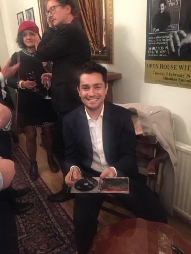 Saimir Pirgu ne Ambasaden Shqiptare ne Londer