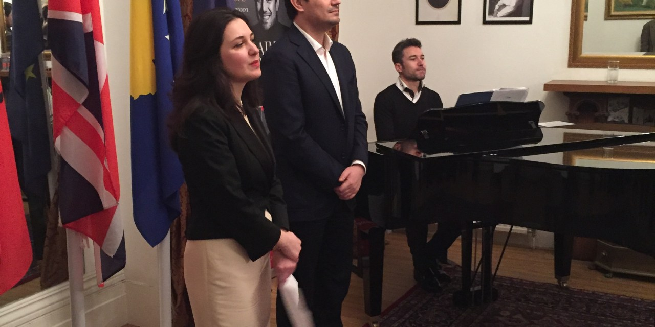 Albanian Embassy in London hosted the world famous Albanian lyric tenor, Mr. Saimir Pirgu