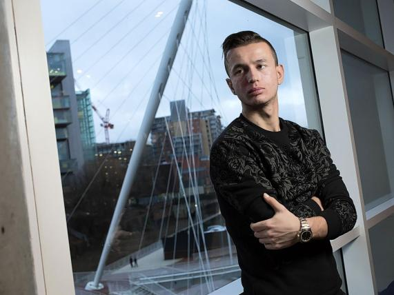 Bersant Celina, born in Kosovo, raised in Norway, is at home in Manchester