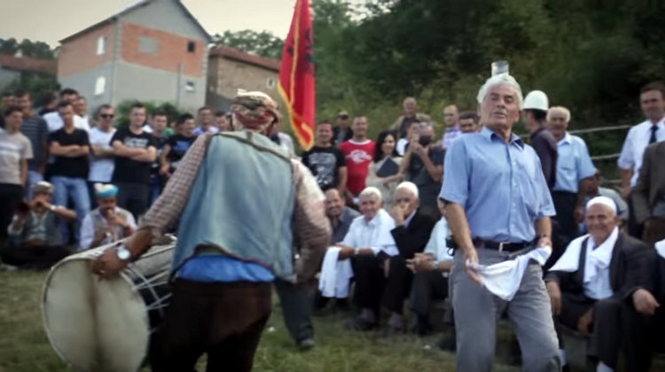 """We salute the life of Nesim Kryeziu (1938-2016) the wonderful man in the film performing a traditional dance with a glass of water on his head at a wedding in his village of Brezne in the Opoja region of Kosovo."""