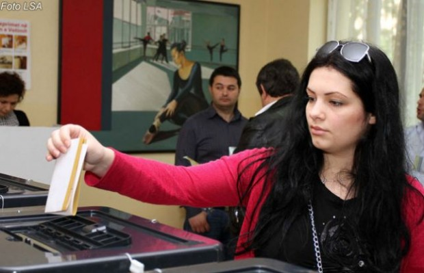 An image from previous Albania's voting