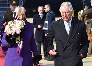 The Prince of Wales and The Duchess of Cornwall departed on their Tour of the Balkans