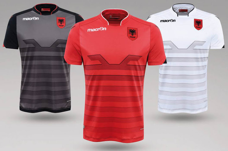 Albania Euro2016, Home and Away Kits