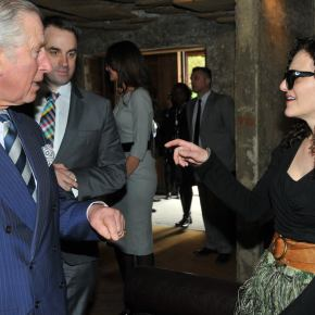 Prince Charles meeting Albanian professionals at Hamam Jazz Bar, Prishtina, Kosovo