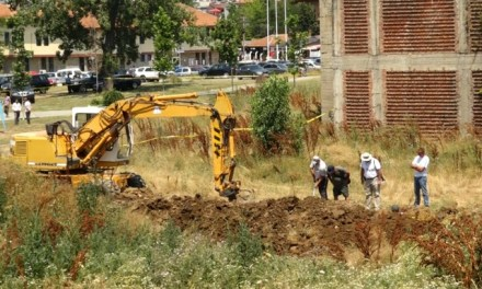 A search for new war-time mass grave in Prishtina, Kosovo