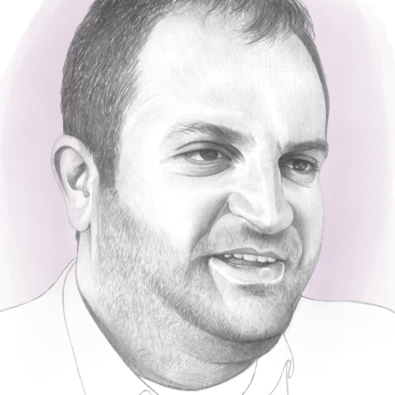 Shpend Ahmeti, Prishtina's Mayor, Illustration by Denise Nestor for POLITICO