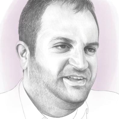 Shpend Ahmeti, Prishtina's Mayor, Illustration by Denise Nestor for POLITICO