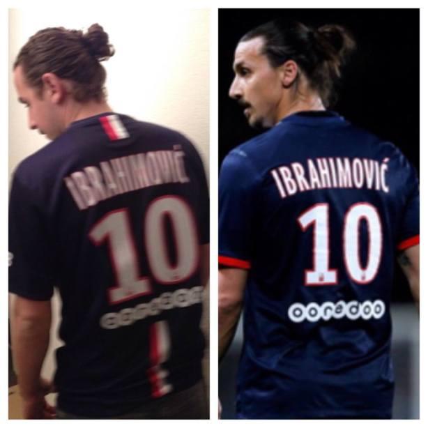 Ahmet Murina, Zlatan Ibrahimovic's lookalike (on the left)