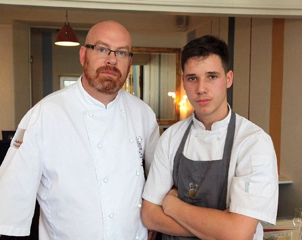 Simon Hulstone and Albanian chef Ali