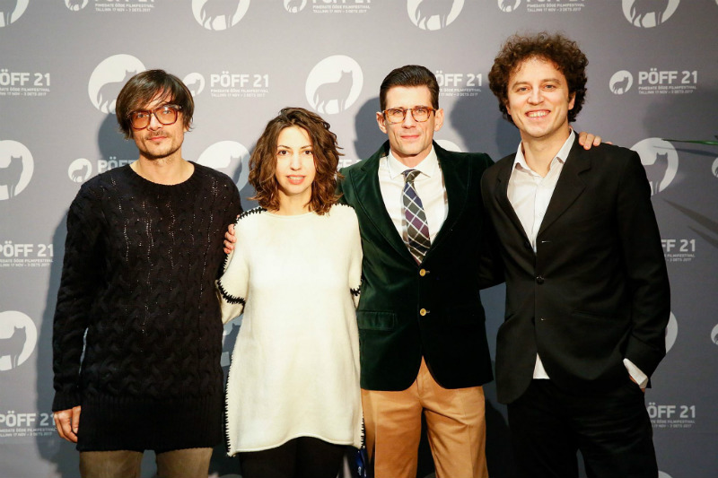 Martesa's cast (from the left:  Genc Salihu, Blerta Zeqiri, Alban Ukaj and Kreshnik Berisha)