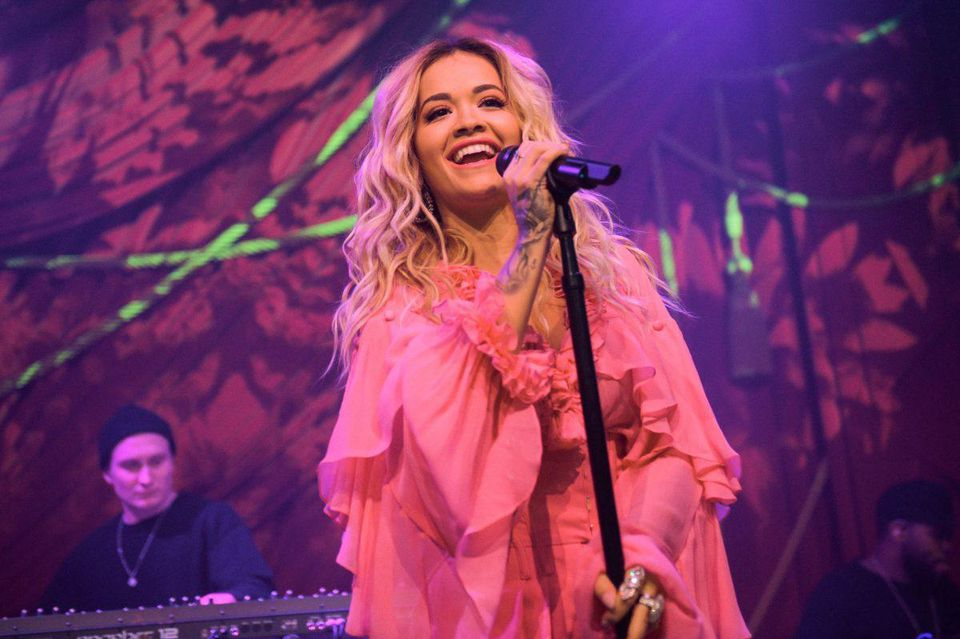 "Rita Ora joins Absolut Lime to kick-off Grammy Awards weekend with the first live performance of her new song, ""Proud"" at the Absolut Open Mic Project x Spotify"
