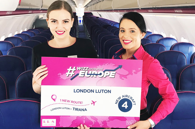 Wizz Air opened its latest route from the UK capital, a 1,912-kilometre link to Tirana. Inaugurated on 19 April, the ULCC will operate the Luton airport pair three times weekly using its A320 fleet.