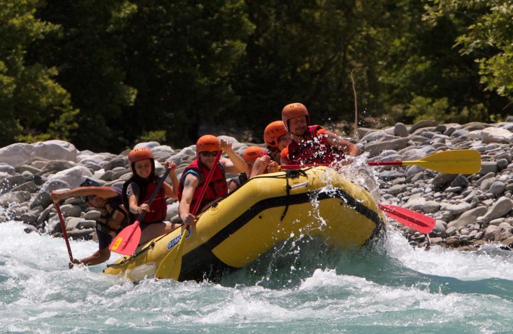 Rafting in Osumi canyon, Albania