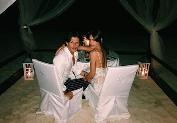 """Jake revealed exactly how he'd popped the question - by spelling a message of 'Marry Me' out on the sand. """"I got the yes,"""" he said."""