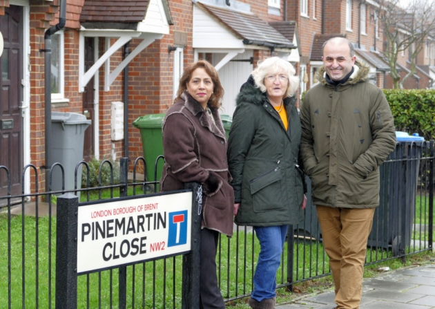 Lib Dem Dollis Hill candidates Afifa Pervez, Alison Hopkins and Naim Hasani