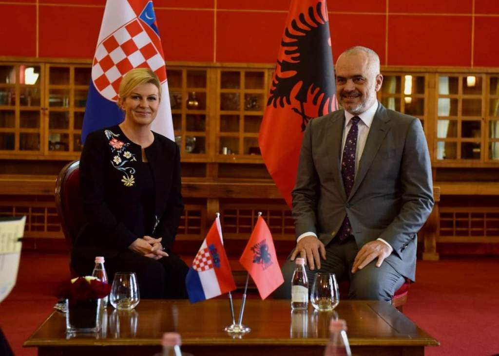 President of Croatia, Kolinda Grabar-Kitarović with Albanian Prime Minister, Edi Rama