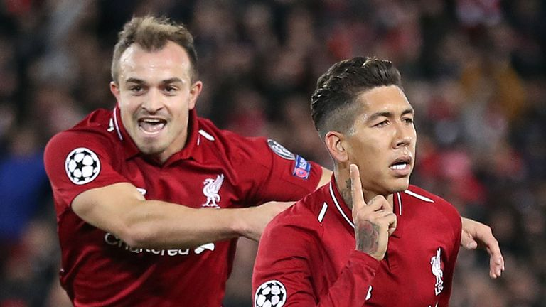 Jurgen Klopp has excluded Xherdan Shaqiri (left) out of his squad to face Red Star Belgrade