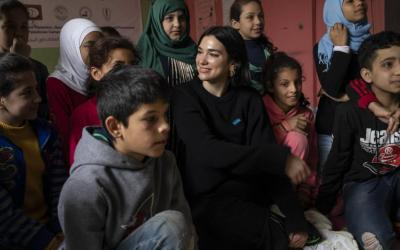 Dua Lipa visits Lebanon with UNICEF to meet refugee children and young people