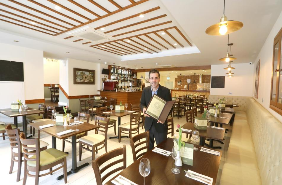 Osteria Veneziana, the new Italian Restaurant opened in St Botolphs Street..Front of house Alberto Ylber lleshi.