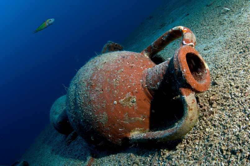 Amphoras that are at least 2,500 years old have been found off the Albanian coast,
