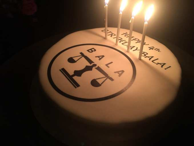 The British-Albanian Lawyers Association 4th birthday cake